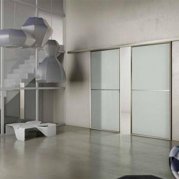 Porte scorrevoli ASTOR modello Atlantic alluminio e vetro a Verona.