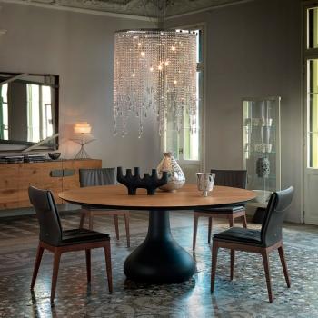 Tavolo CATTELAN ITALIA modello Bora Bora base alluminio piano legno chiaro a Verona.