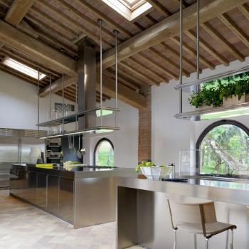 Cucina ARCLINEA modello Convivium isola acciaio inox a Verona.