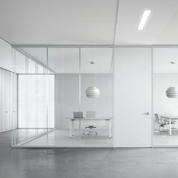 Arredamento ufficio DOIMOFFICE Silence Partition Wall vetro e alluminio a Verona.