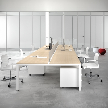 Arredamento DOIMOFFICE divivi ambiente vetro e alluminio a Verona.